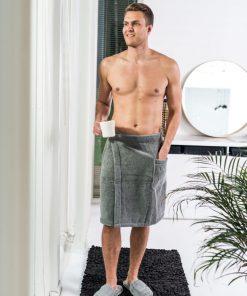 Luin Living Wrap Towel Granite