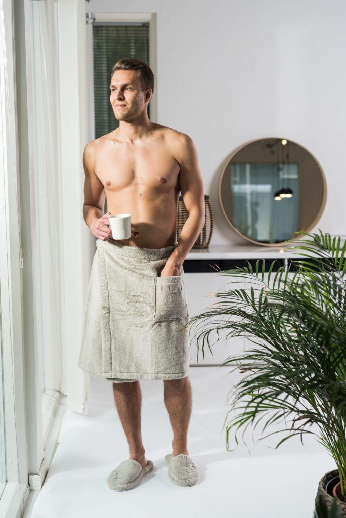 Luin Living Wrap Towel Sand