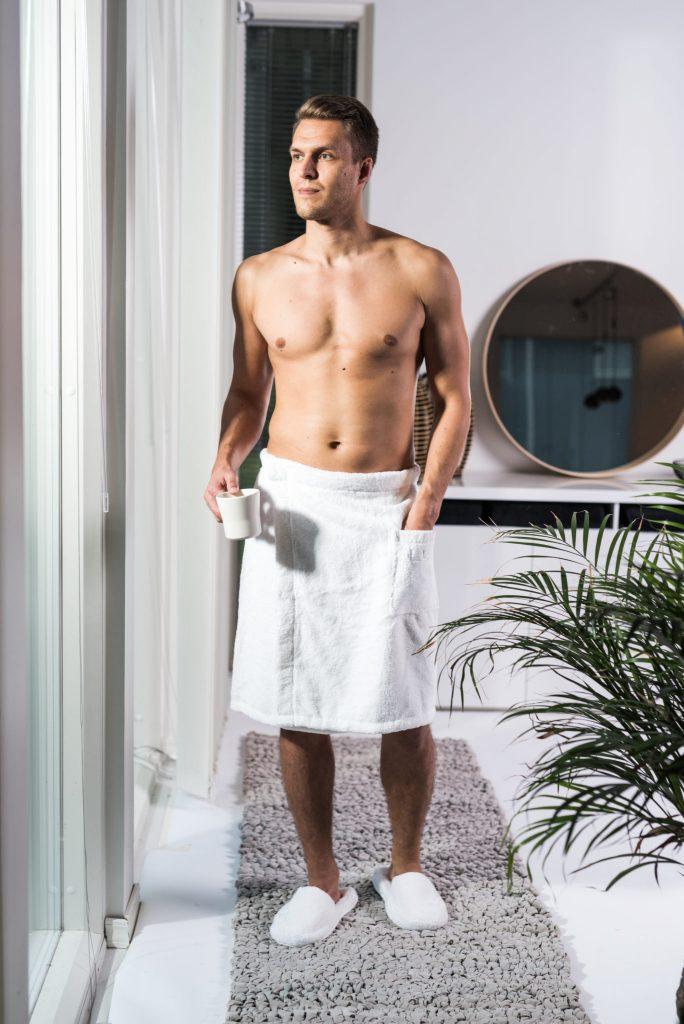Luin Living Wrap Towel Snow White