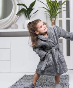 Luin Living Kid's Bath Robe Granite