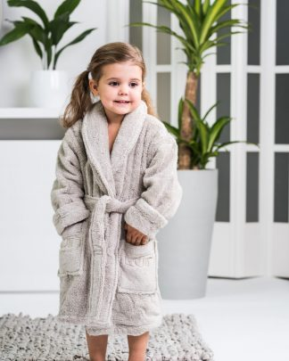 Luin Living Kid's Bath Robe Sand