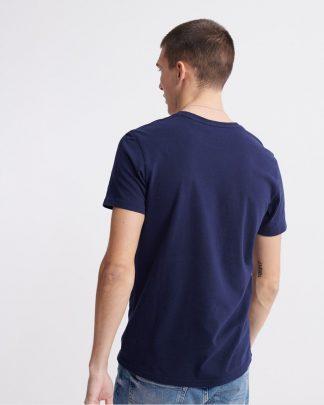 Superdry Embossed Pastel Line T-shirt Navy