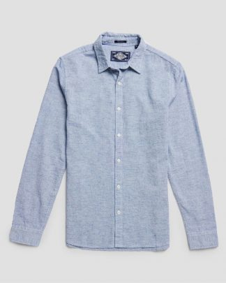Superdry Loom Shirt Light Blue