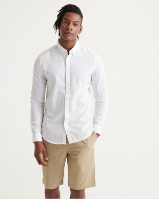 Superdry Edit Linen Button Down Shirt White