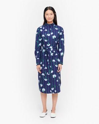 Marimekko Paju Viivakukka Dress Blue