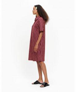 Marimekko Palsta Piccolo Dress Prune-coral
