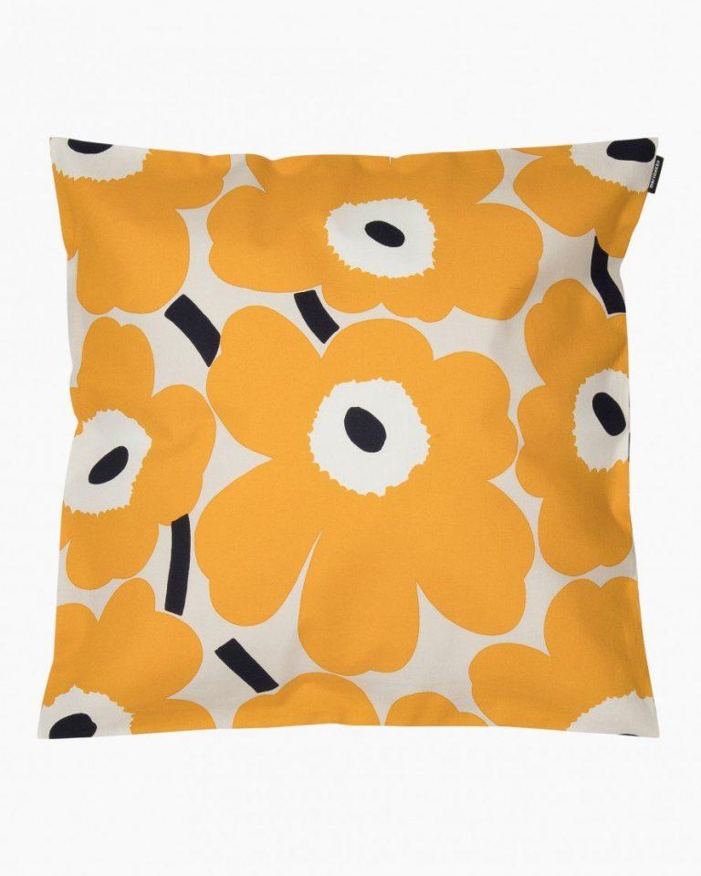 Marimekko Pieni Unikko Cushion Cover Yellow