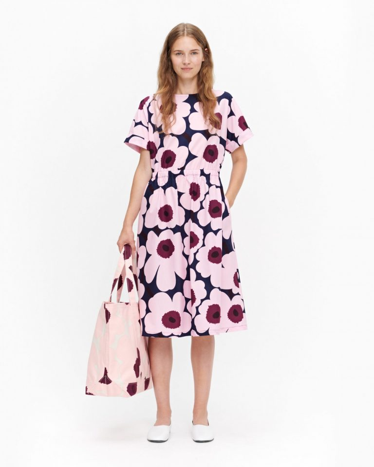 Marimekko Piiri Pieni Unikko Dress Prune