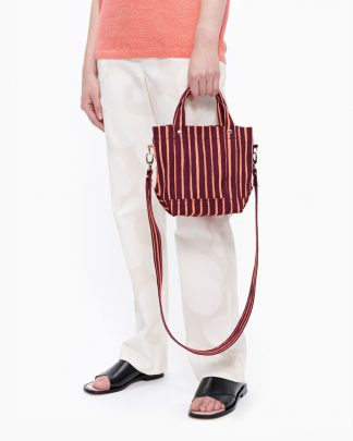 Marimekko Pikku Peruskassi Piccolo Bag Burgundi