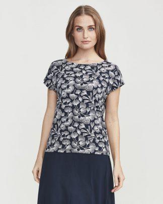 Holebrook Melanie Capsleeve T-shirt Navy