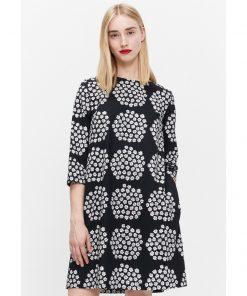 Marimekko Unelma Puketti Dress Black