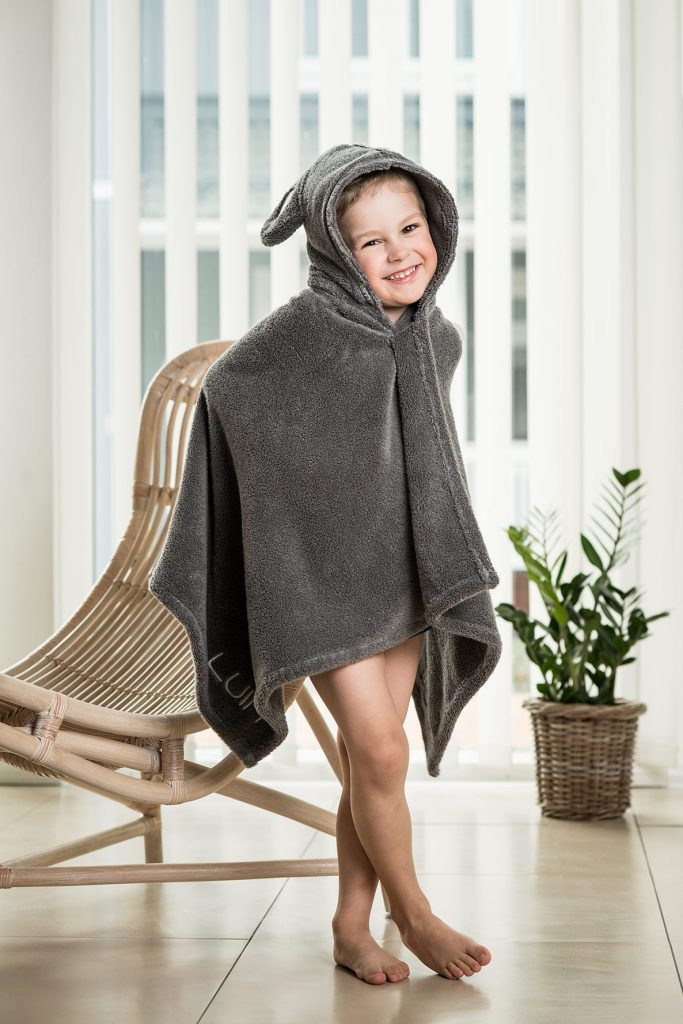 Luin Living Baby Bath Towel Granite