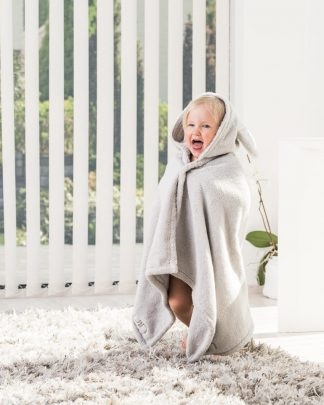 Luin Living Baby Bath Towel Pearl grey