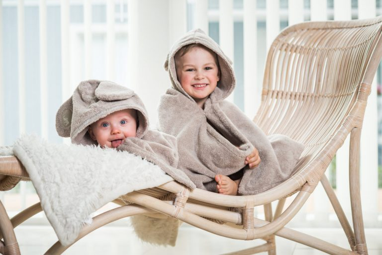 Luin Living Baby Bath Towel Sand
