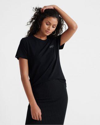 Superdry Orange Label Elite Crew Neck T-shirt Black