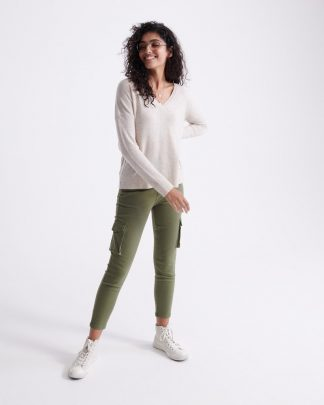 Superdry Edit V-Neck Premium Knit Oatmeal