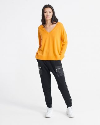 Superdry Edit V-Neck Premium Knit Yellow