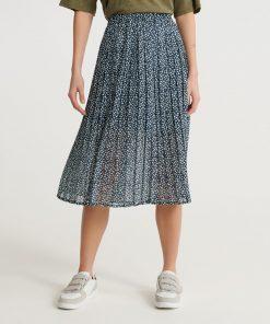 Superdry Summer Pleated Skirt Navy