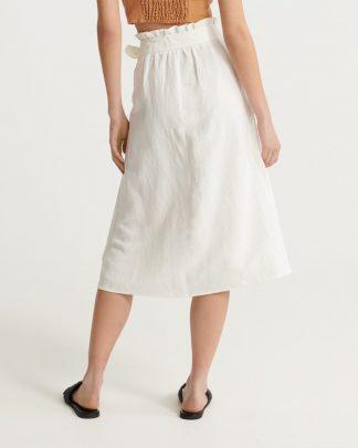 Superdry Eden Linen Skirt Offwhite