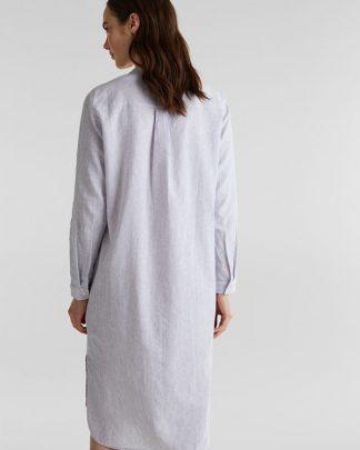 Esprit Linen Shirt Dress Light Blue