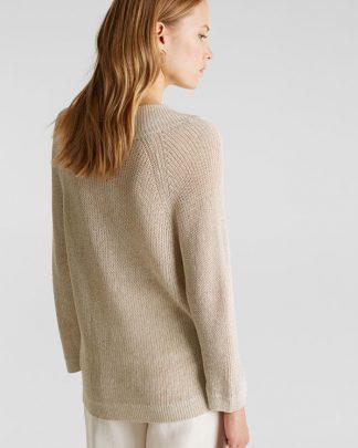 Esprit V-neck Sweater Beige