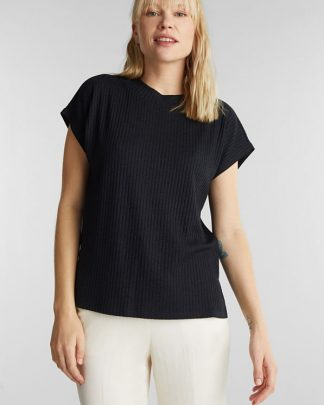 Esprit Rib T-shirt Black