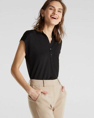 Esprit Polo T-shirt Black