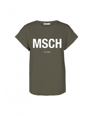 Moss Copenhagen Alva STD T-Shirt Kalamata/White