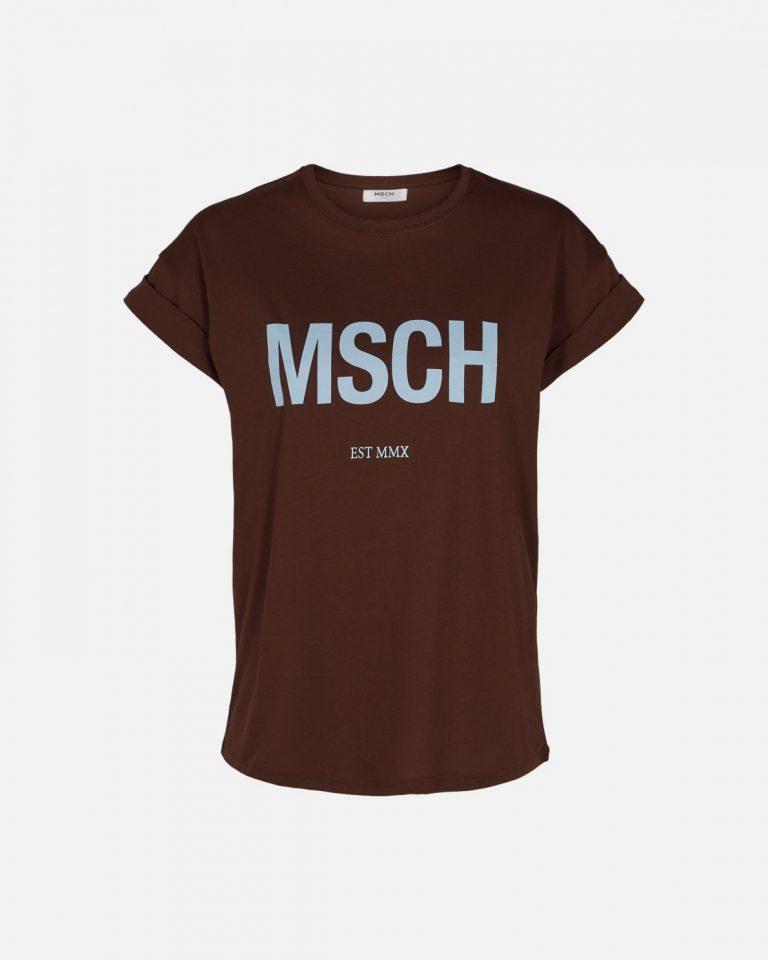 Moss Copenhagen Alva STD T-shirt Coffee