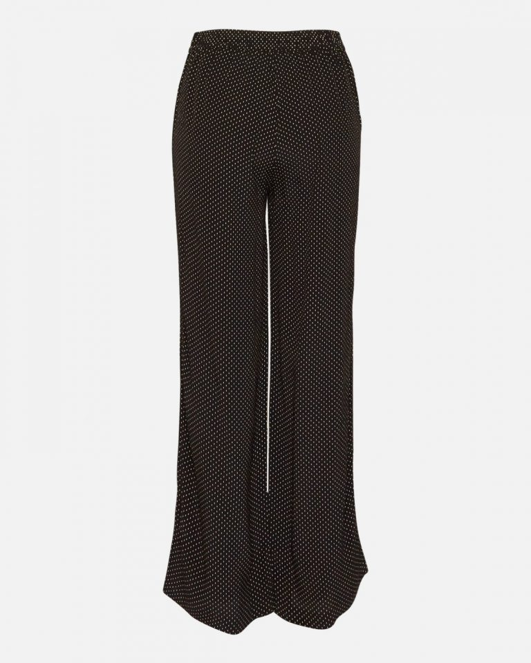 Moss Copenhagen Amara Morocco Pants Black Dots