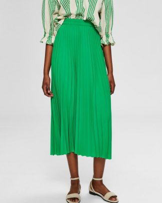 Selected Femme Alexix Midi Skirt bright Green