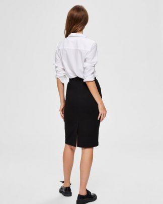 Selected Femme Shelly Pencil Skirt Black