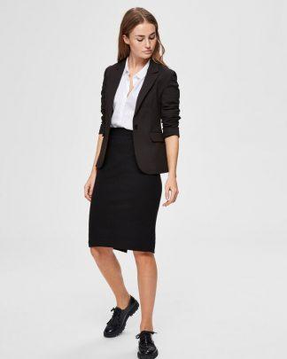 Selected Femme Shelly Pencil Skirt Black