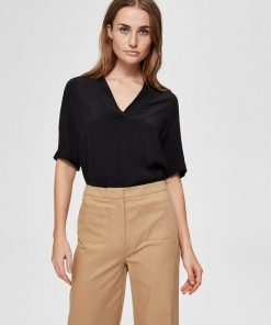 Selected Femme Ella Top Black