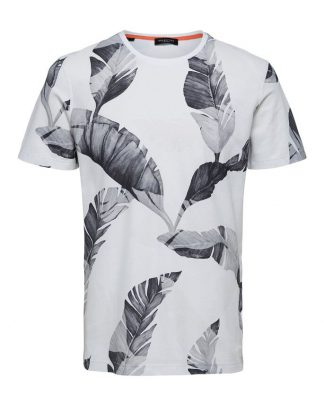 Selected Tony Print Tee White