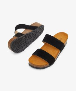 Bianco Biabetty Twin Strap Sandal Black