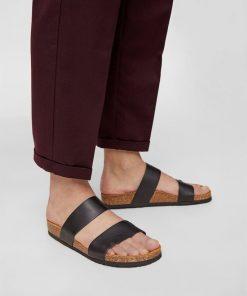 Bianco Biabetricia Twin Strap Sandal Black