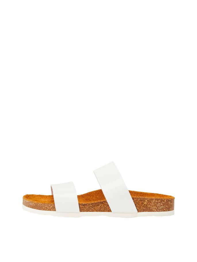 Bianco Biabetricia Twin Strap Sandal White