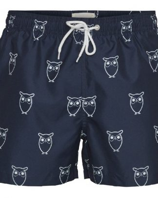 Knowledge Cotton Apparel Bay All Over Swimshorts Navy