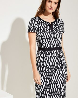 Comma, Dress Navy Print