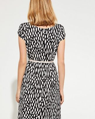 Comma, Graphic Dress Black