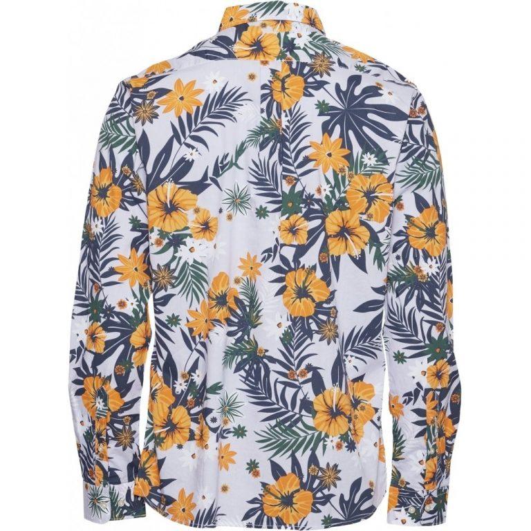 Knowledge Cotton Apparel Elder Flower Shirt Lavender