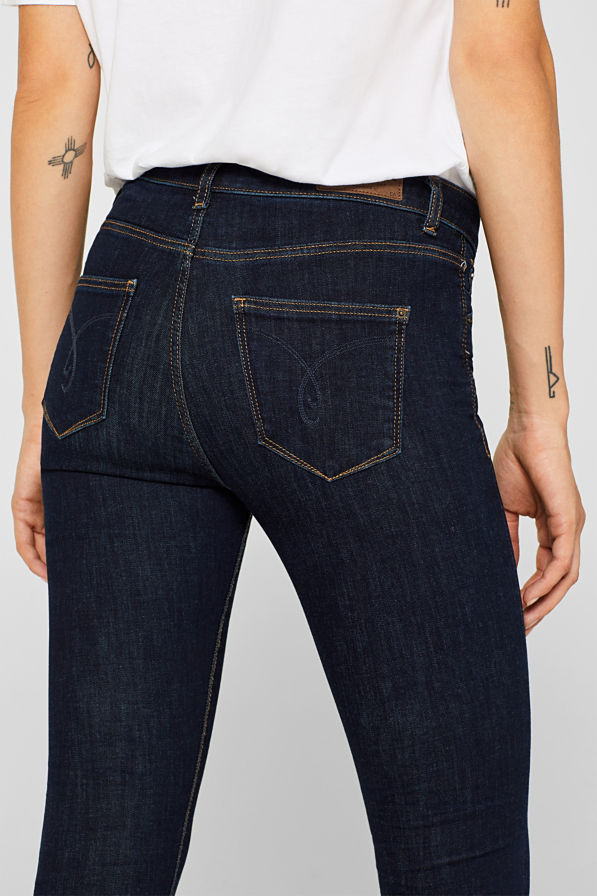 Esprit High Rise Slim Denim Jeans Blue
