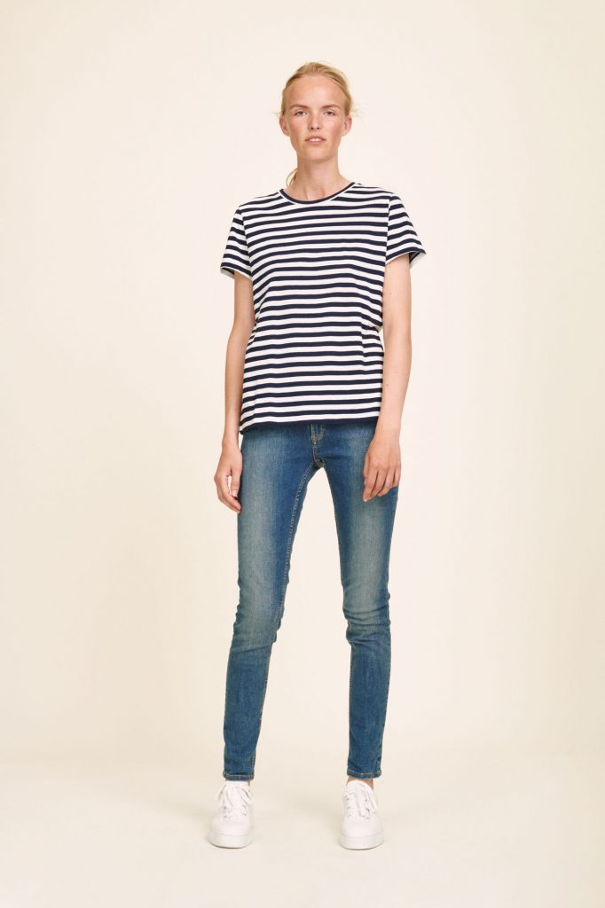 Samsoe & Samsoe Solly Stripe Tee Blue/White