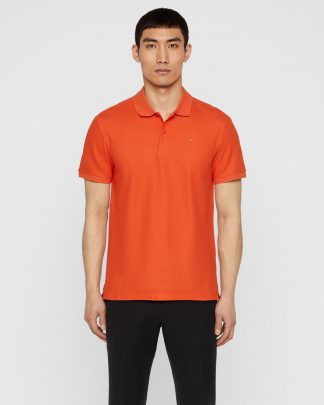 J.Lindeberg troy Cotton Polo Shirt Red
