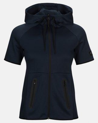 Peak Performance Short Sleeve Tech Zip Hood Navy