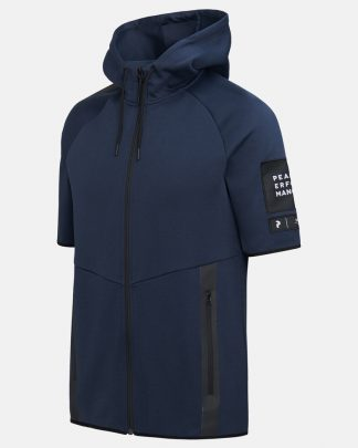 Peak Performance Tech Zip SS Hood Blue