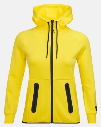 Peak Performance Tech Zip Hood Yellow