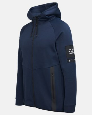 Peak Performance Tech Zip Hood Blue