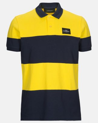 Peak Performance Original Block Polo Shirt Stowaway Yellow